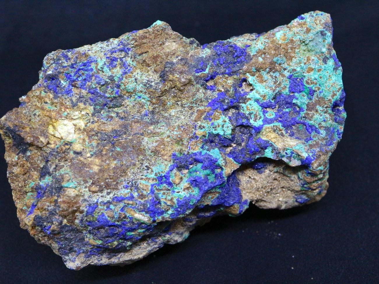 アリゾナ産 アズライト アジュライト 129g 原石 鉱物 標本 AZR003