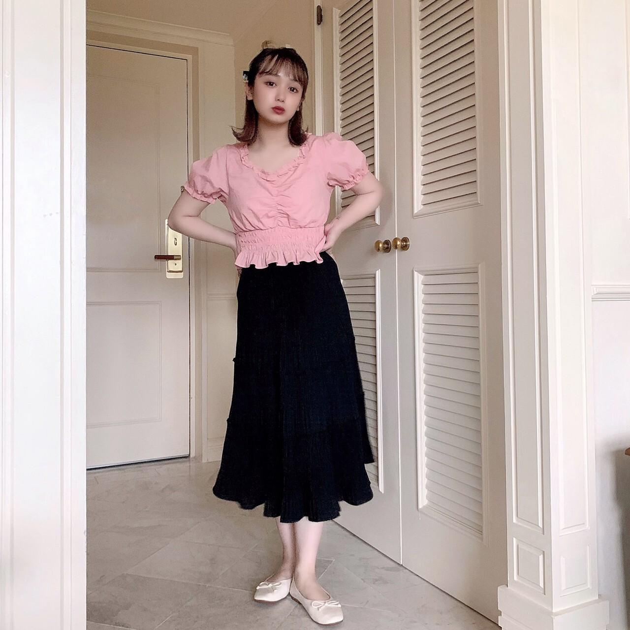 【meltie】pleats tiered skirt