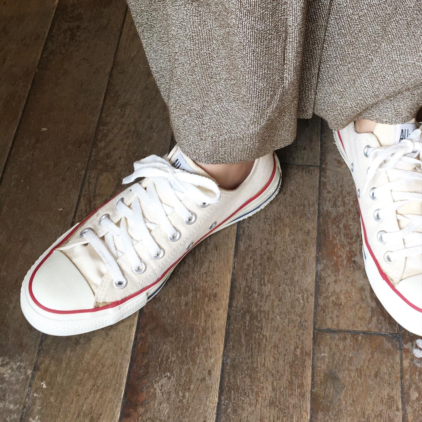 """USED """" CONVERSE ALL STAR ivory OX """""""