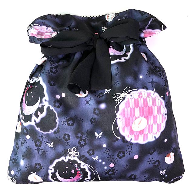 白妙の追憶 大きなお菓子入れバッグ/BK