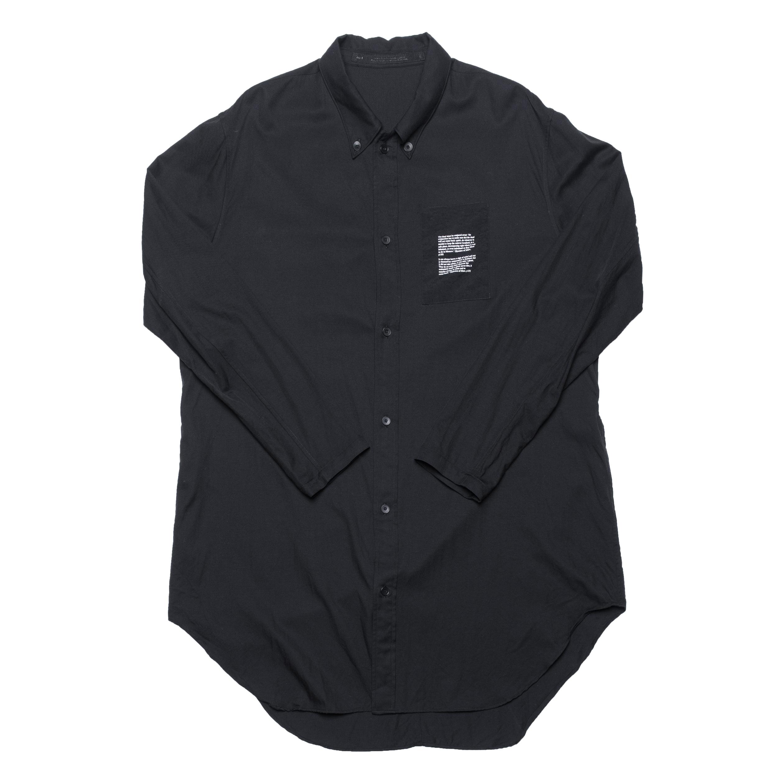 687SHM2-BLACK / ドローコードロングシャツ