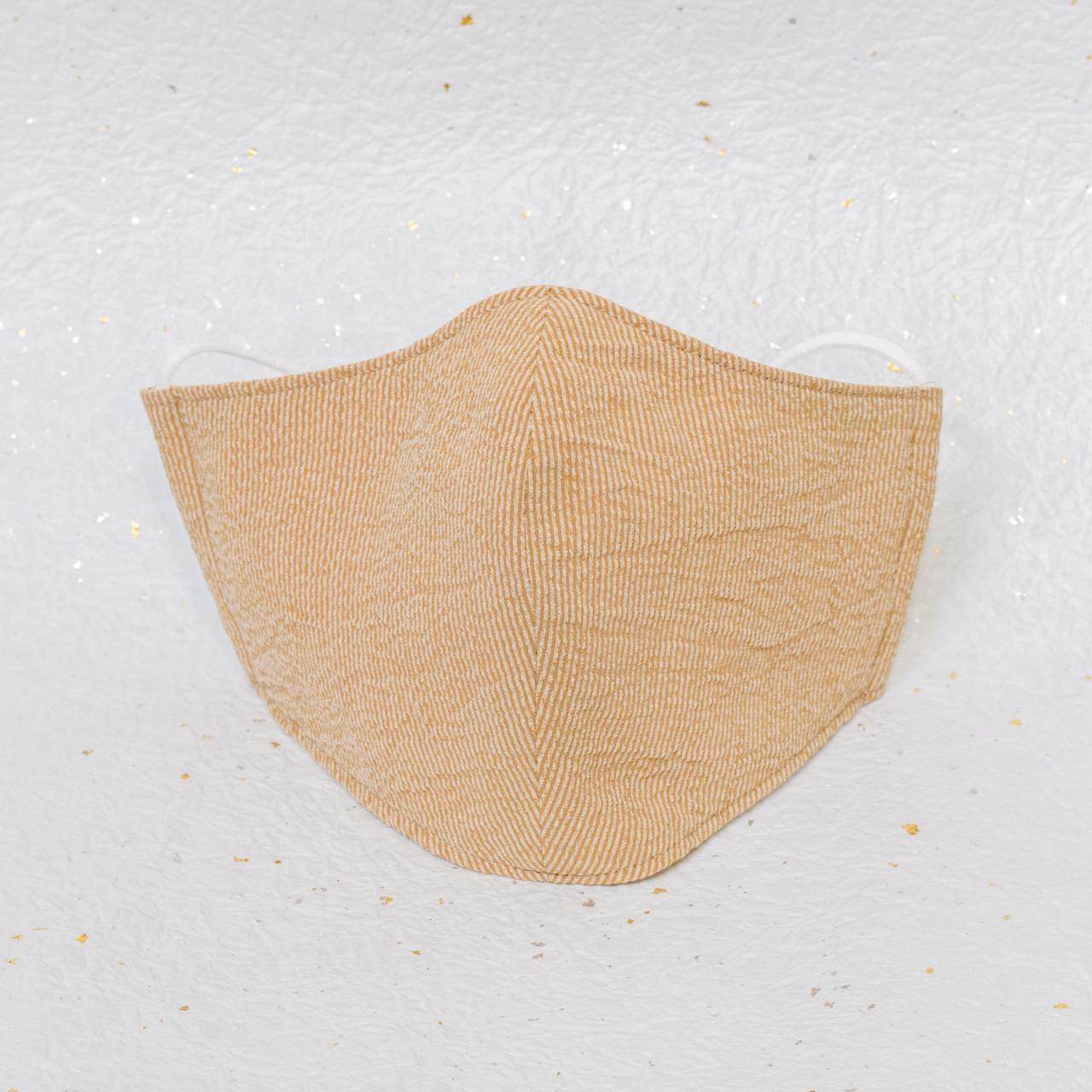 モダン和紙織りマスク クラシック オレンジ(橙)