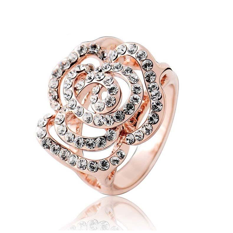 IUHA 18Kゴールドメッキ Piaget Roseピアジェ ローズ風バラデザイン リング 指輪 金属アレルギーと変色防止 アクセサリー ギフト   48iuhav