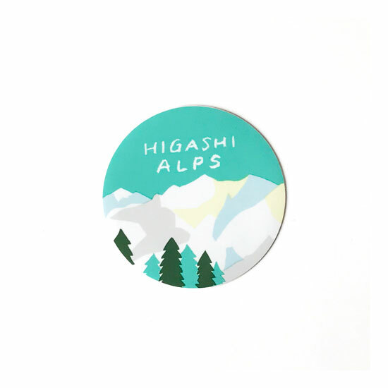 HIGASHI ALPS(ヒガシアルプス)ALPS ステッカー