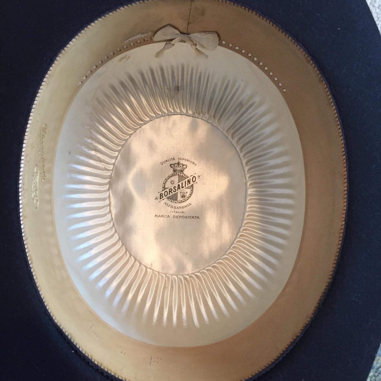 Rare Antique Borsalino Bowler Hat