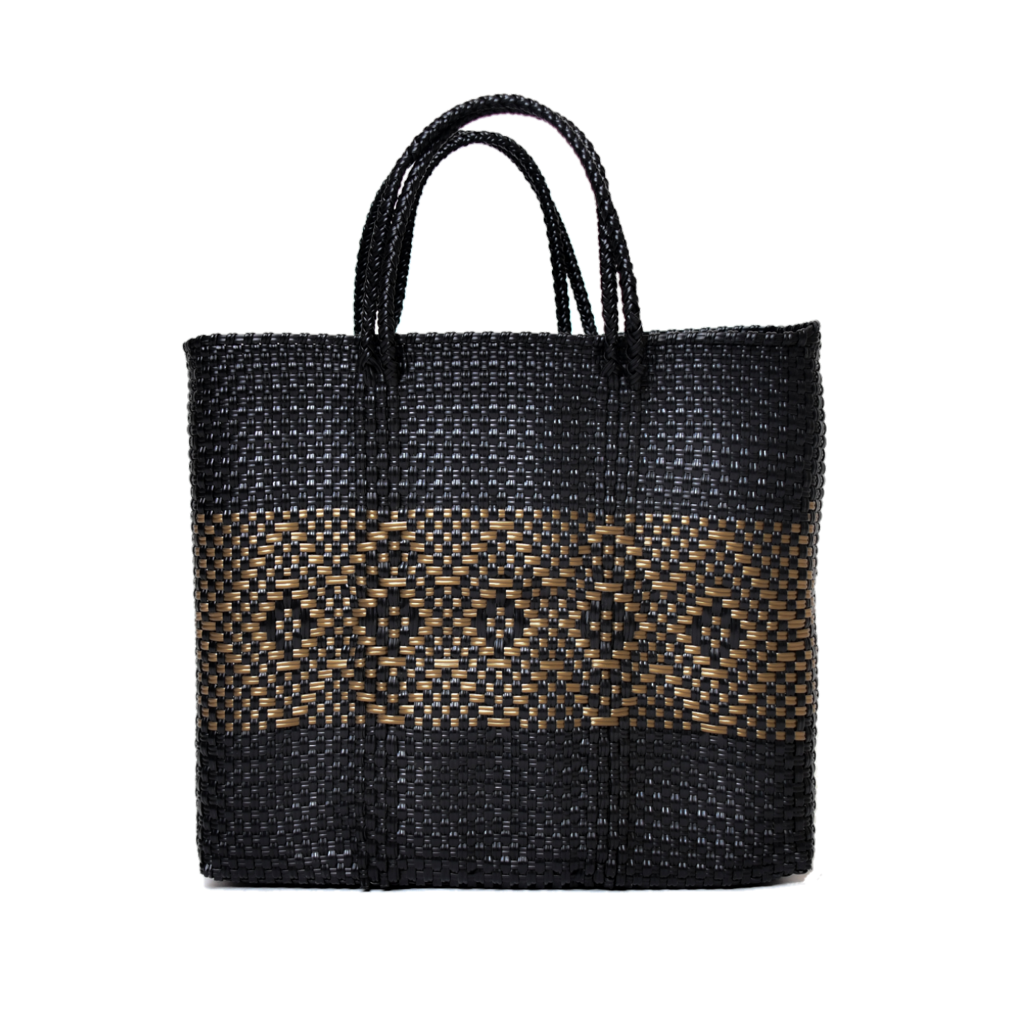 MERCADO BAG DIAMOND LINE-Black x Gold(S)