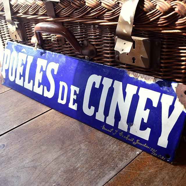 サインプレート 看板 「POELES DE CINEY」