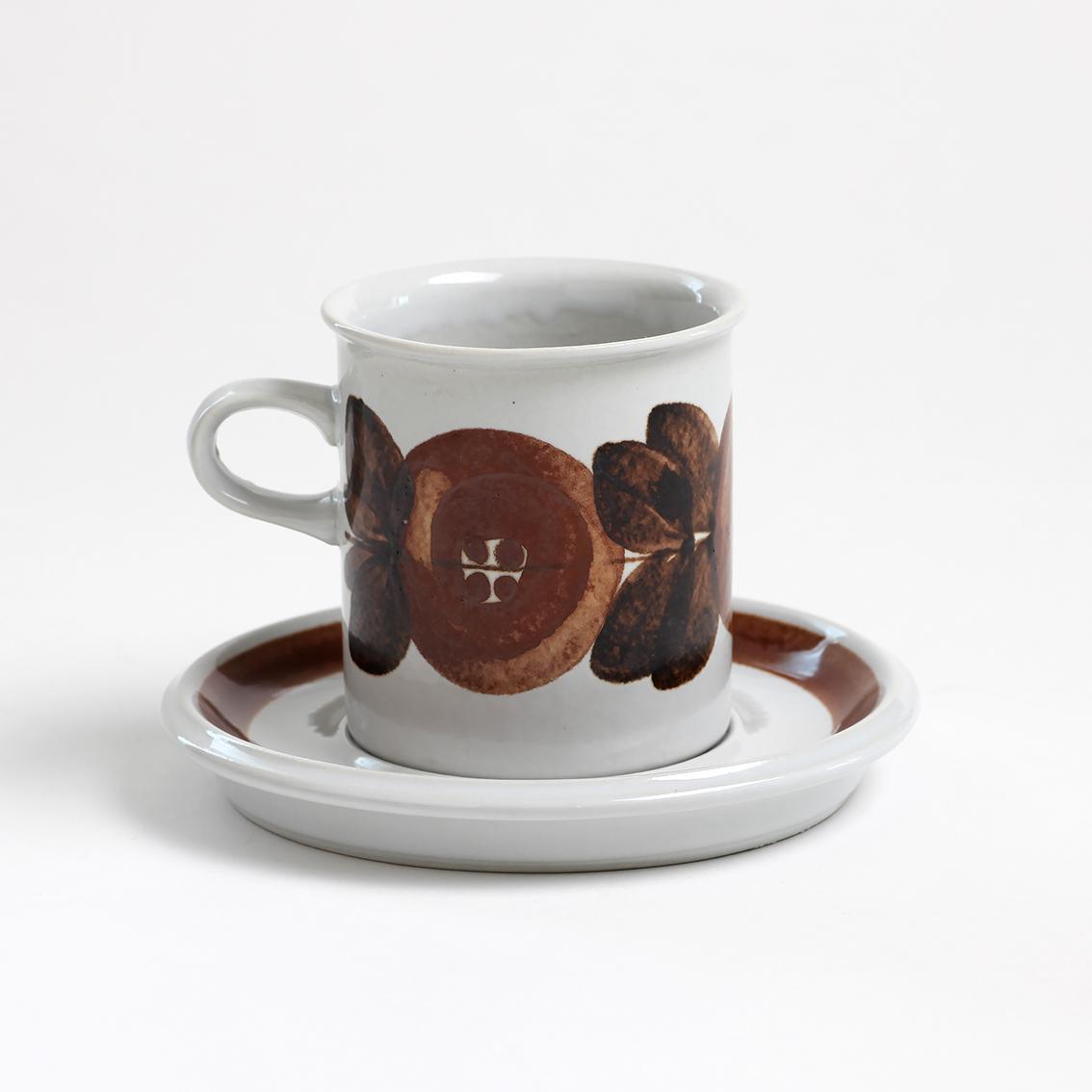 ARABIA アラビア Rosmarin ロスマリン コーヒーカップ&ソーサー - 13 北欧ヴィンテージ