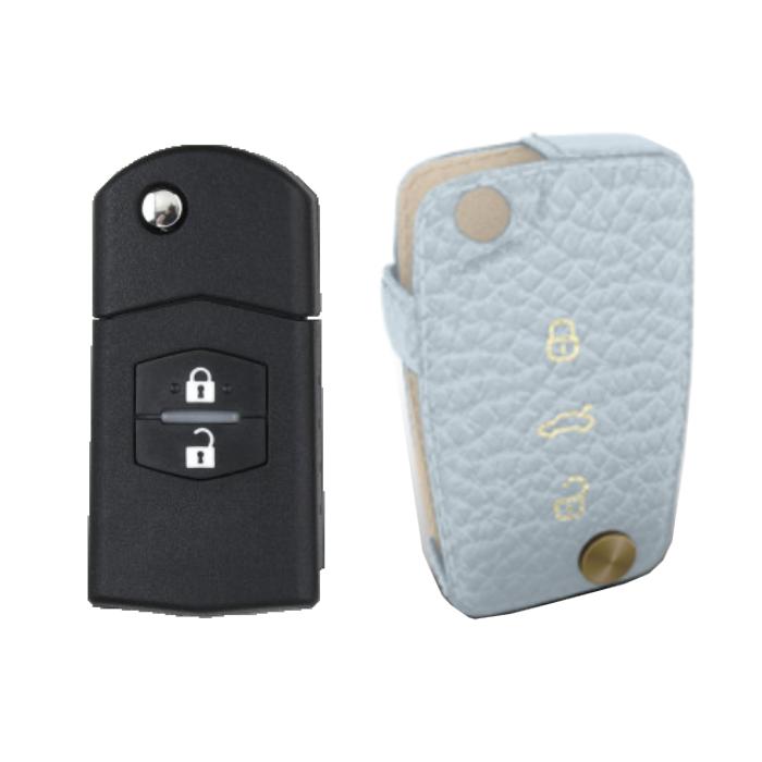 Mazda 専用 TypeC Car Key Case Shrink Leather Case