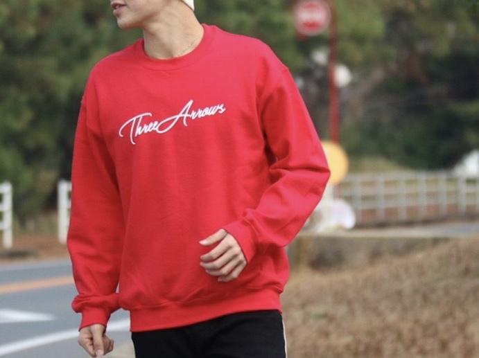 ThreeArrows スウェット(red)