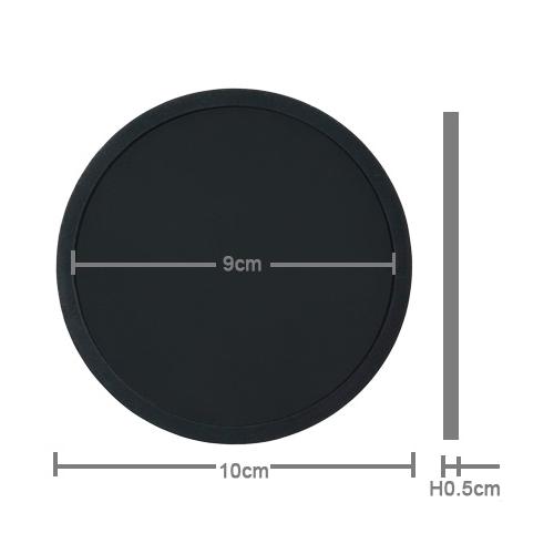 シリコン・ブラック・コースター 4枚セット(送料込み) - 画像3