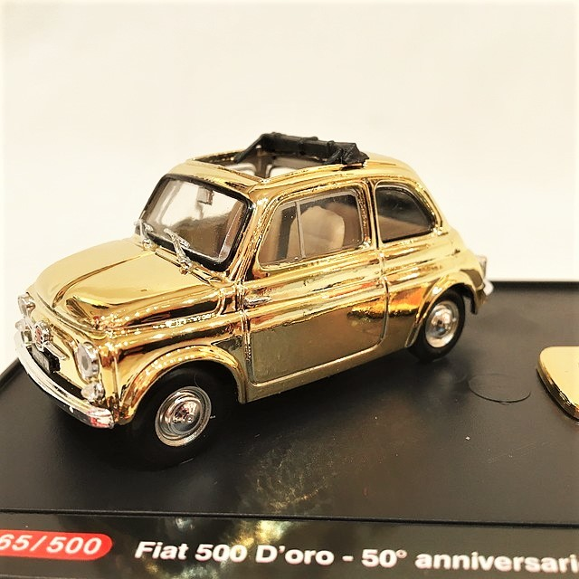 FIAT 500 D'ORO OPEN ROOF -  50°anniversario 1957-2007 1/43【brumm】【1個のみ】【税込価格】