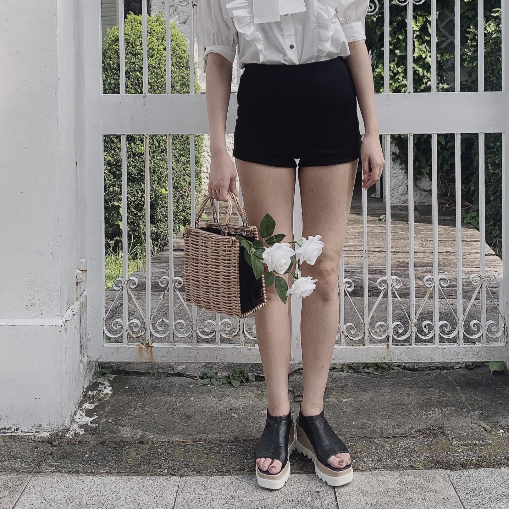 platform summer sandal (black)