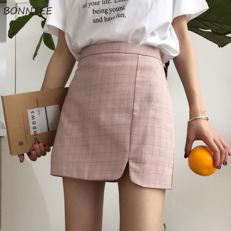 ペールチェックタイトスカート