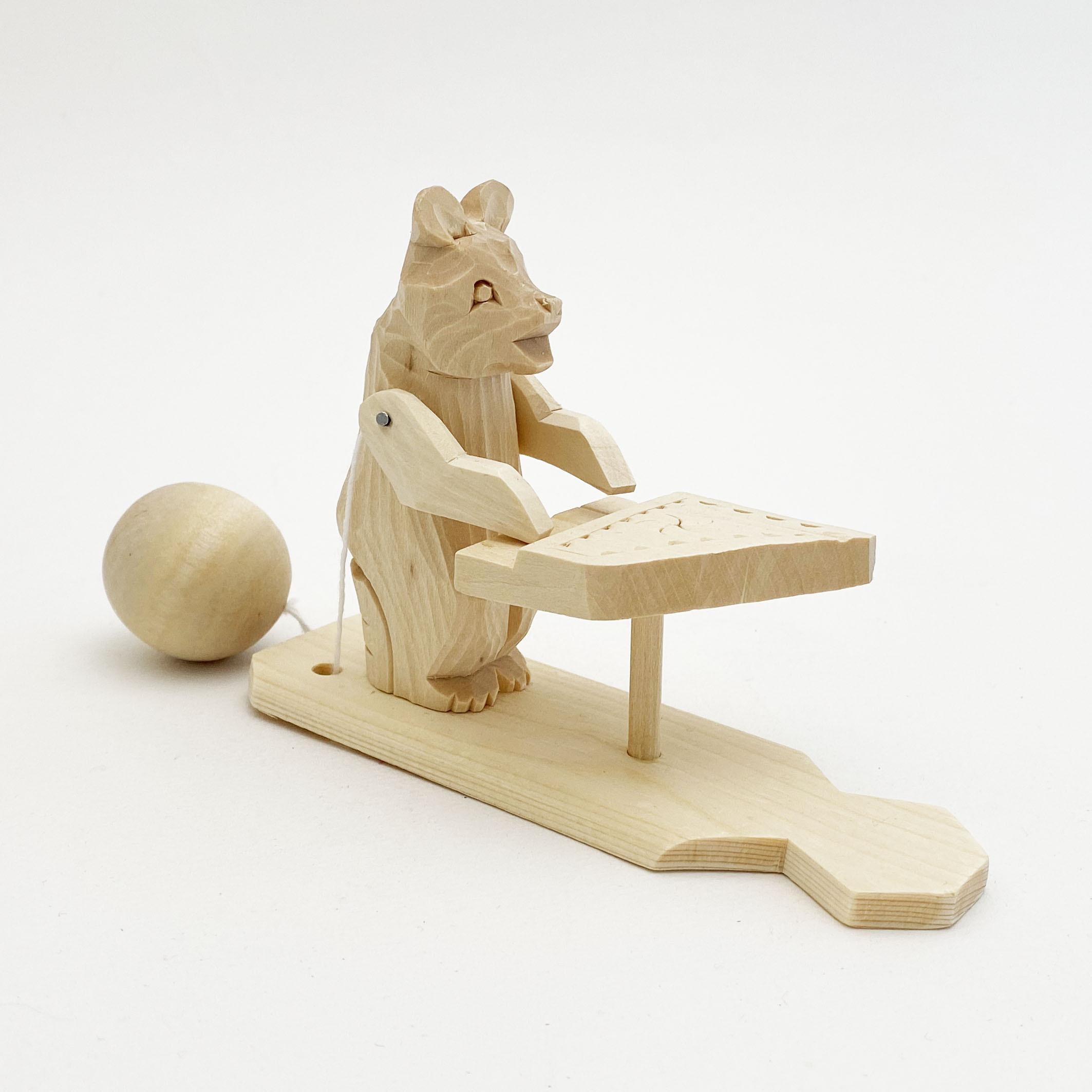ボゴロツコエ木地玩具「クマのピアニスト」