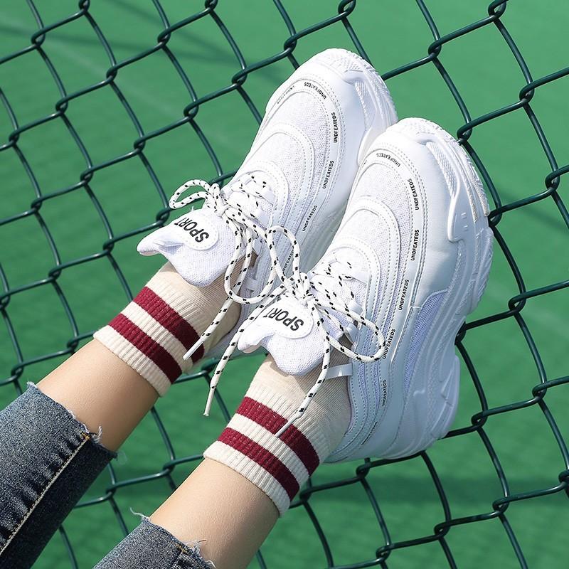 【shoes】合わせやすい大人気カジュアル無地厚底スニーカー22269024