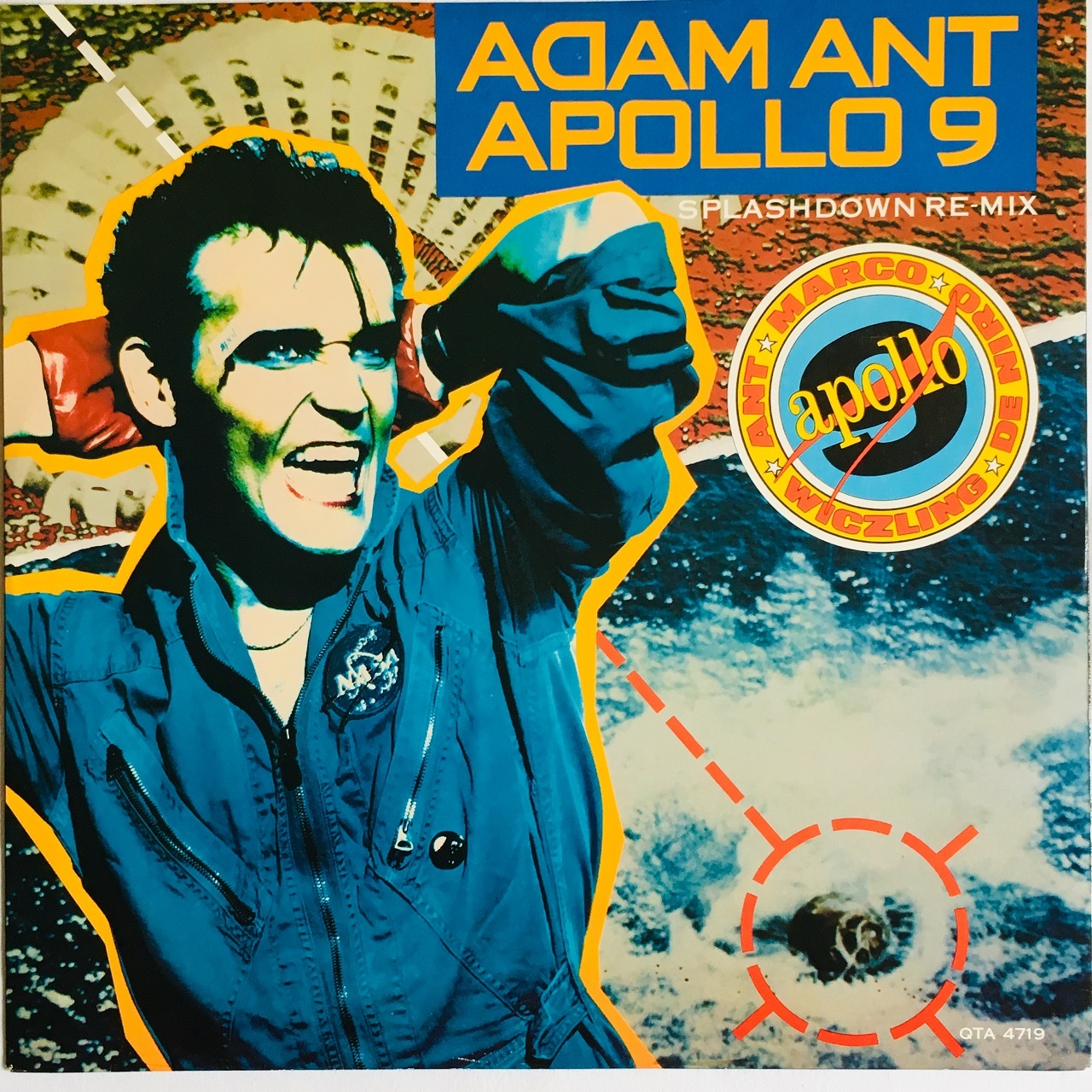 【12inch・英盤】Adam Ant / Apollo 9 (Splashdown Re-Mix)