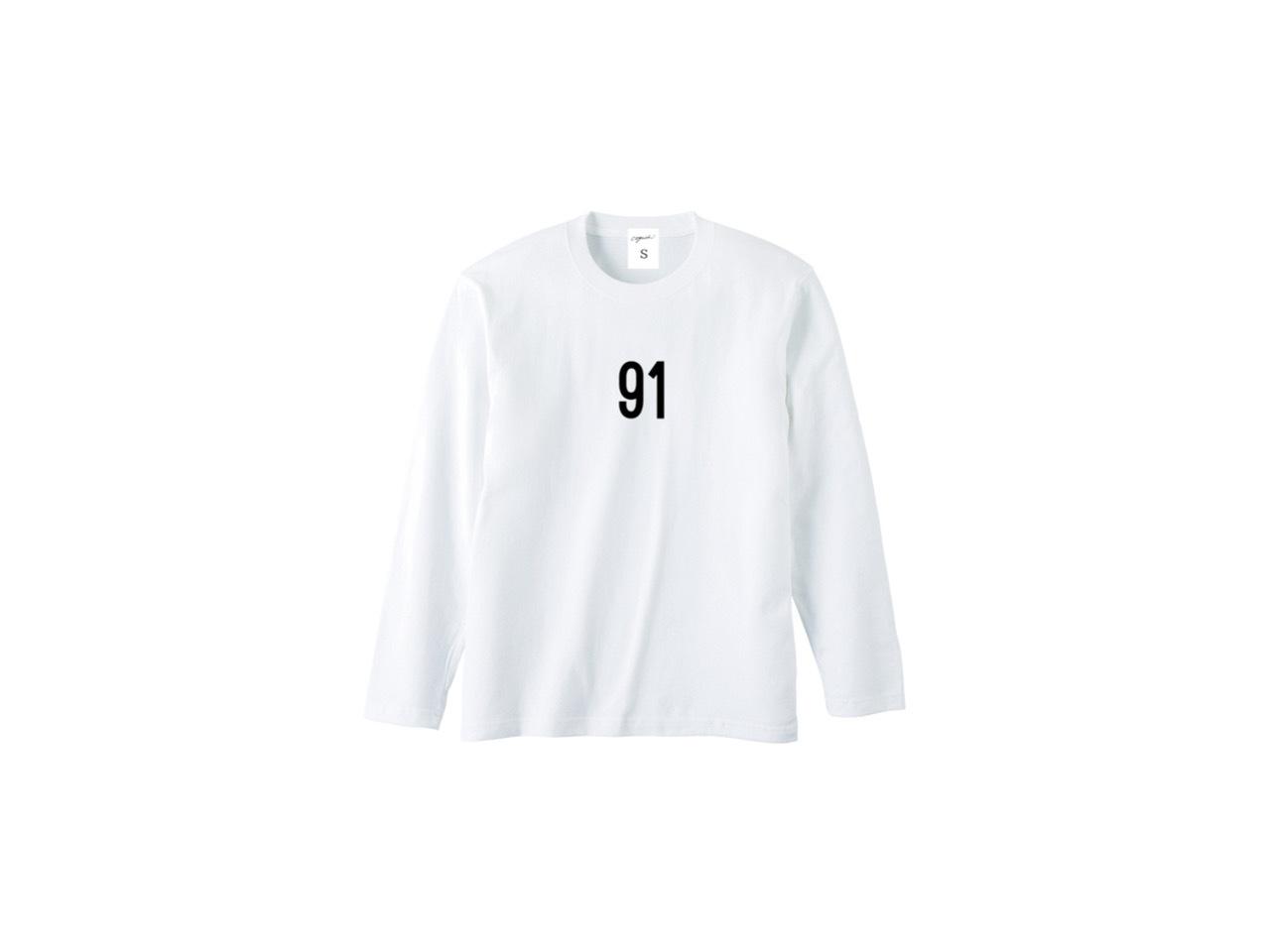 91 logo long T-shirts (WH)