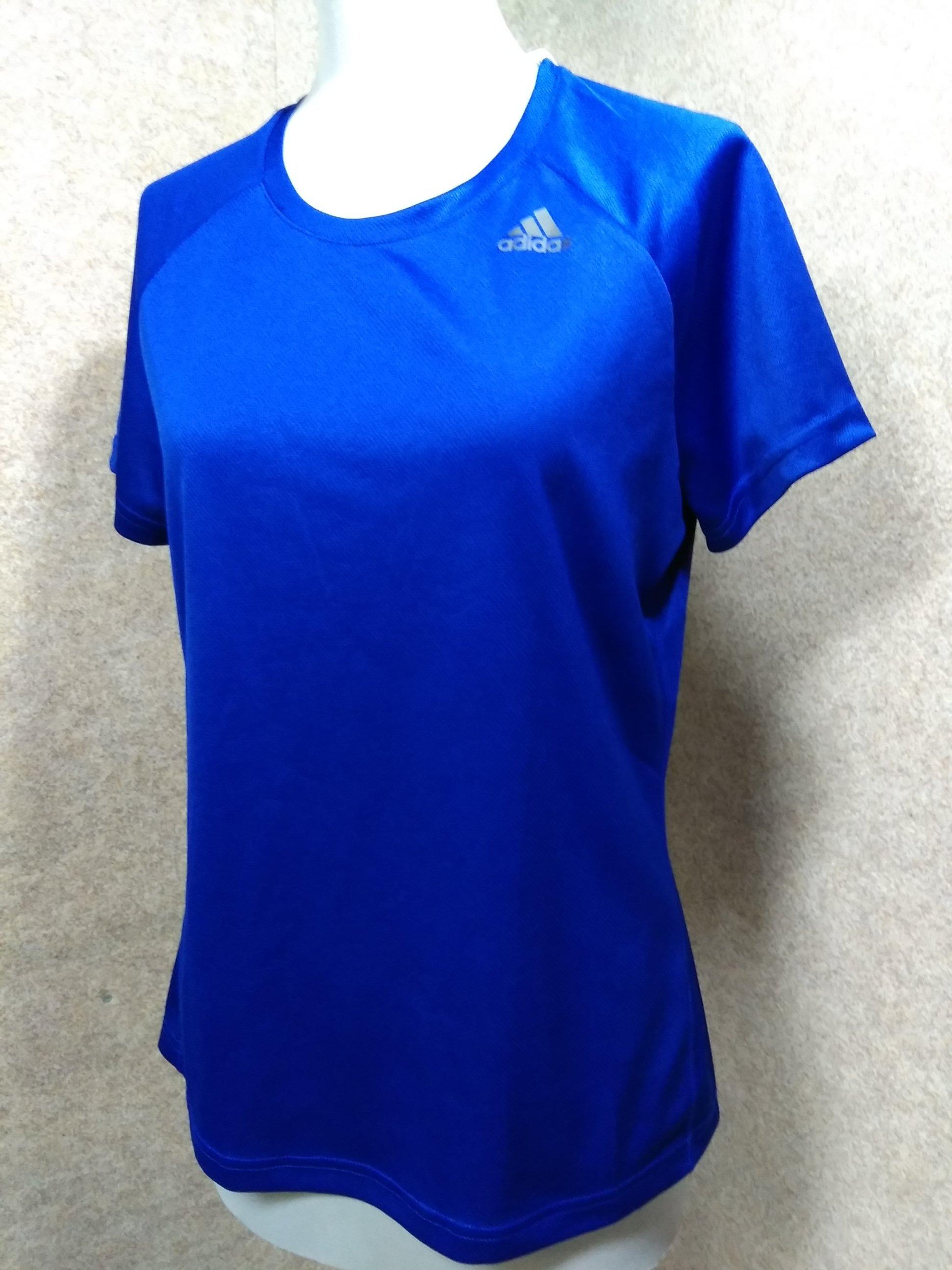 adidas アディダス Tシャツ サイズOT 青 u1257a