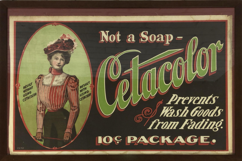 品番3793 ファブリックアート 『Cetacolor』 1910年代 パネル 壁掛 ヴィンテージ