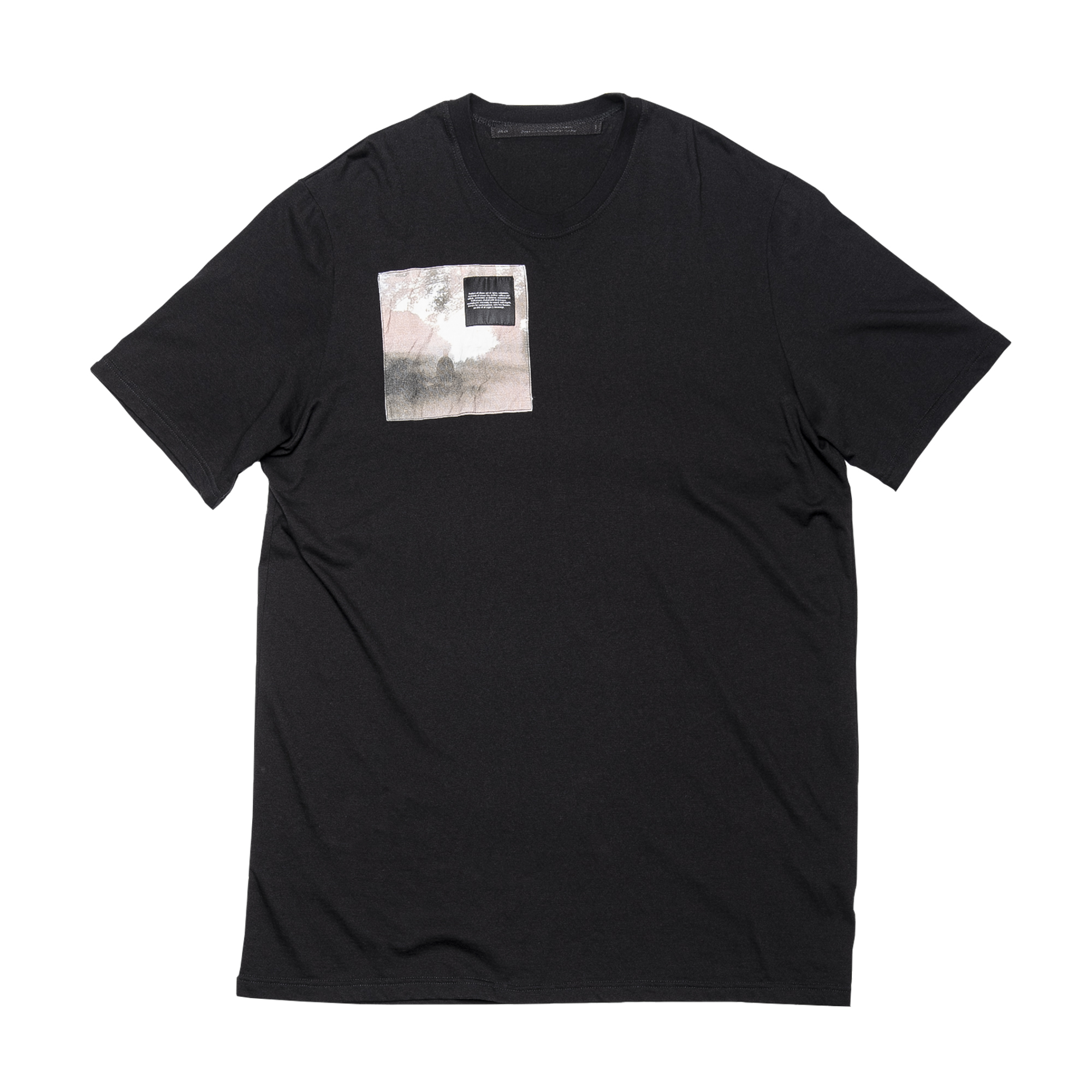 687CPM2-BLACK / パッチプリントTシャツ