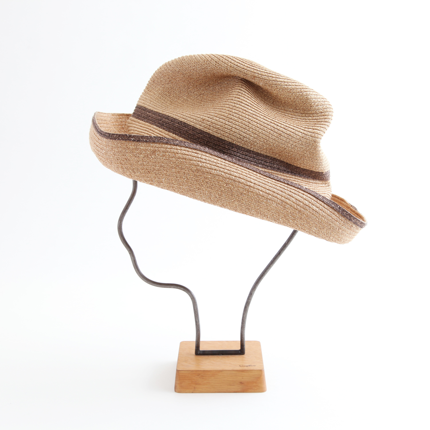 mature ha./BOXED HAT 101SW mixbrown×darkbrown