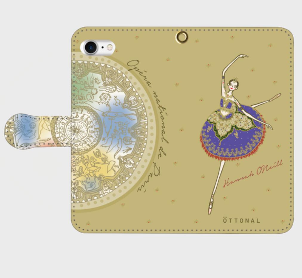 ★パリ・オペラ座コラボ★ (iPhone)オニールハナ 手帳型スマホケース - 画像5