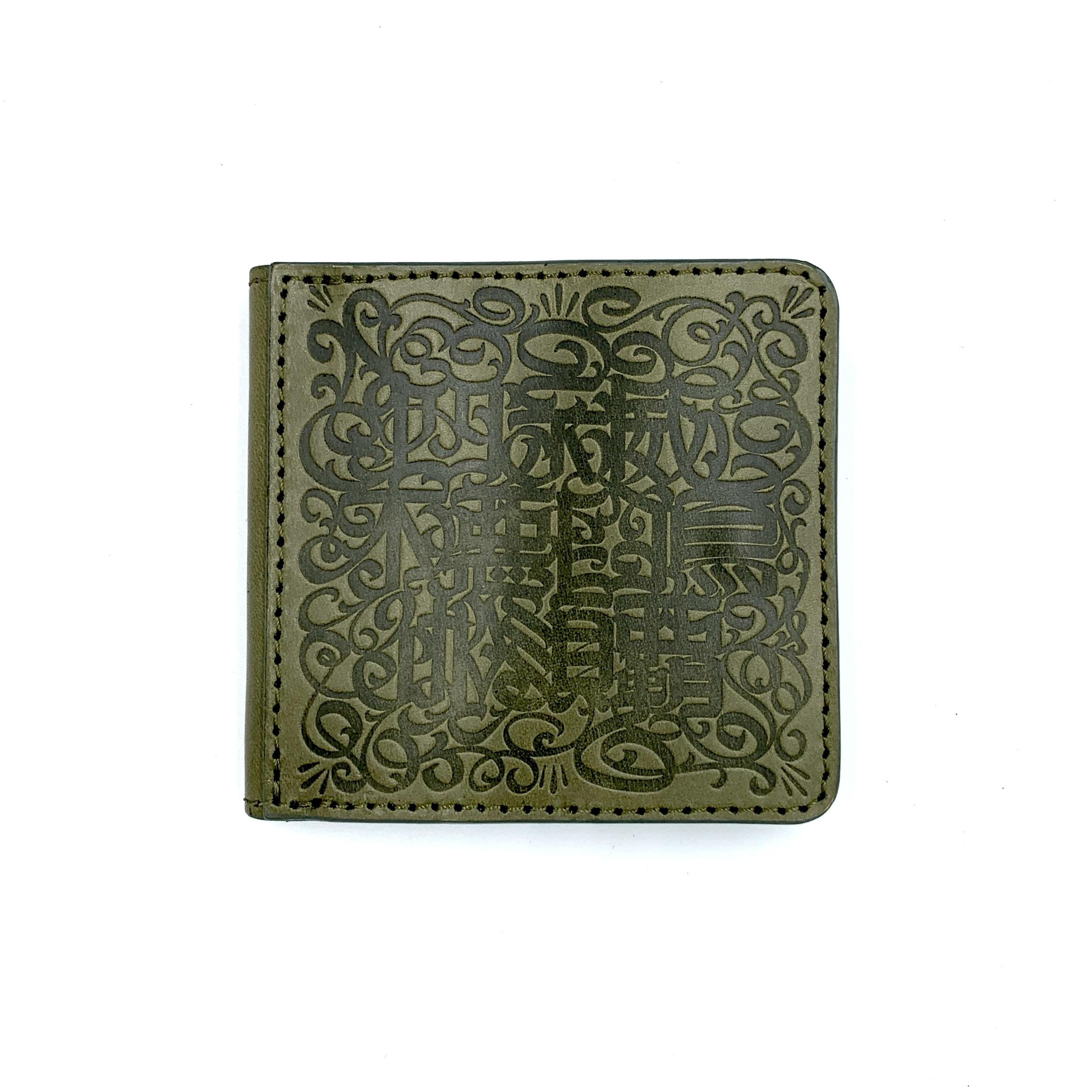 《CASPER× YONZY factory》BOX小銭入れショート財布 グリーン