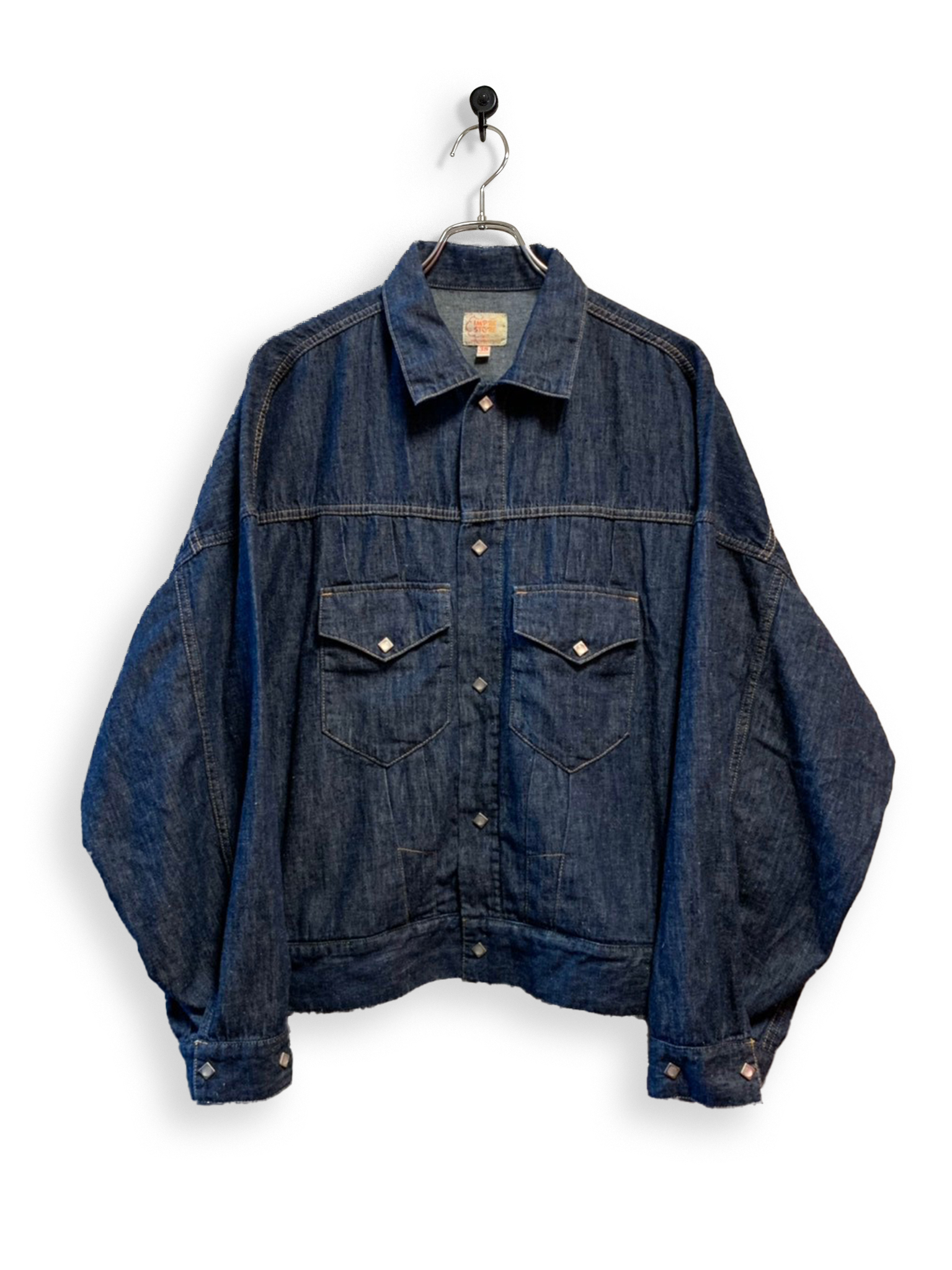 6.5oz Denim Western Short Jacket / one wash