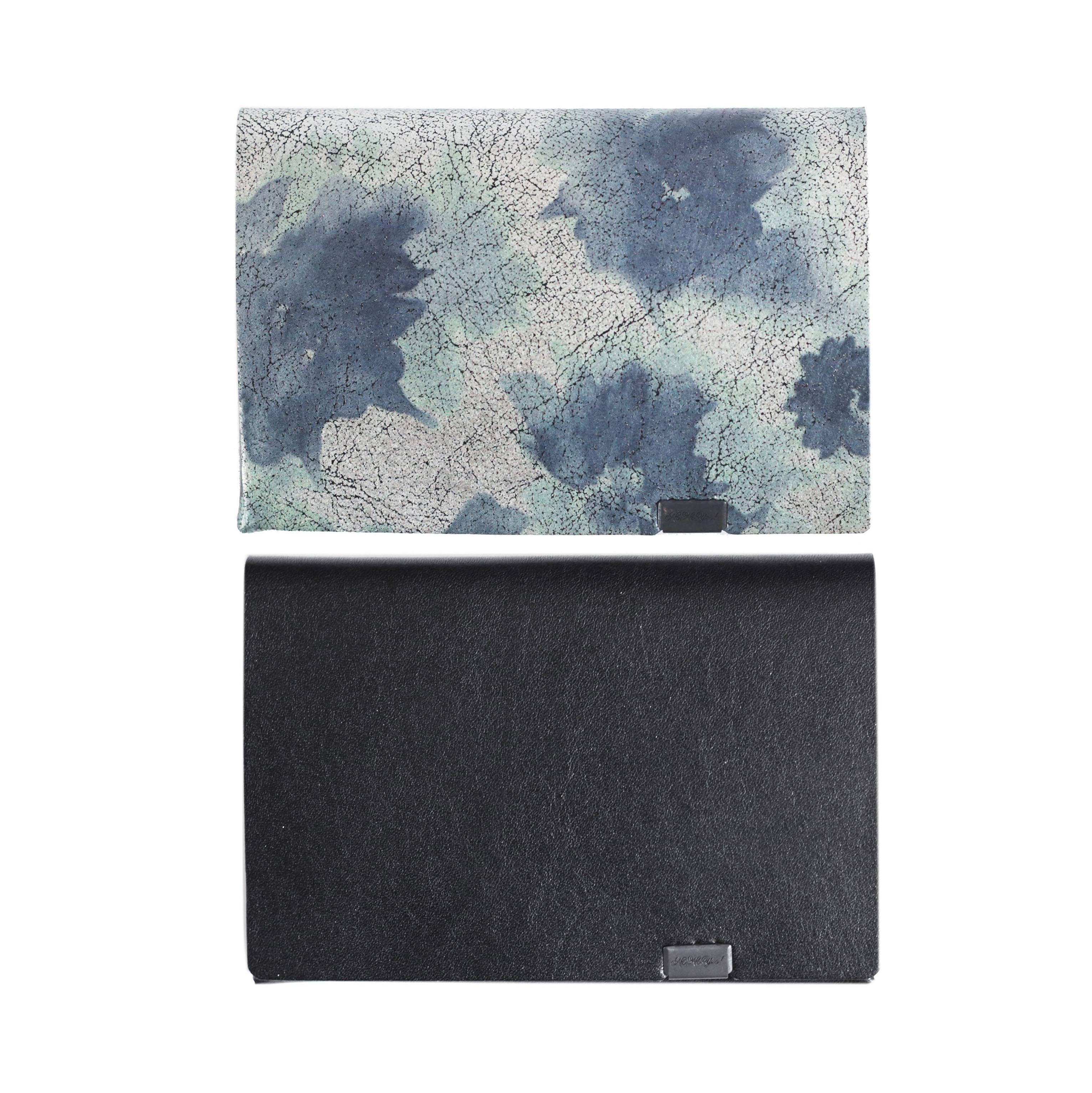 睡蓮画 フローラル(&ブラック) -ショートウォレット1.0-