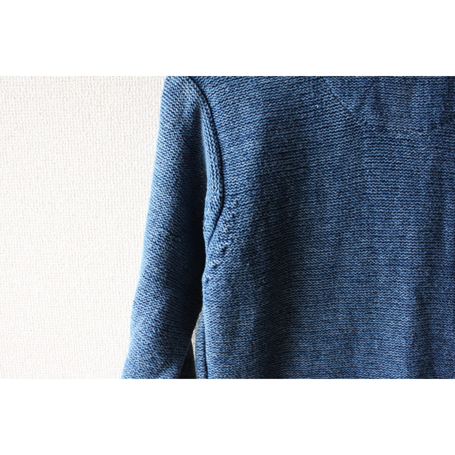 Vintage indigo hi neck sweater