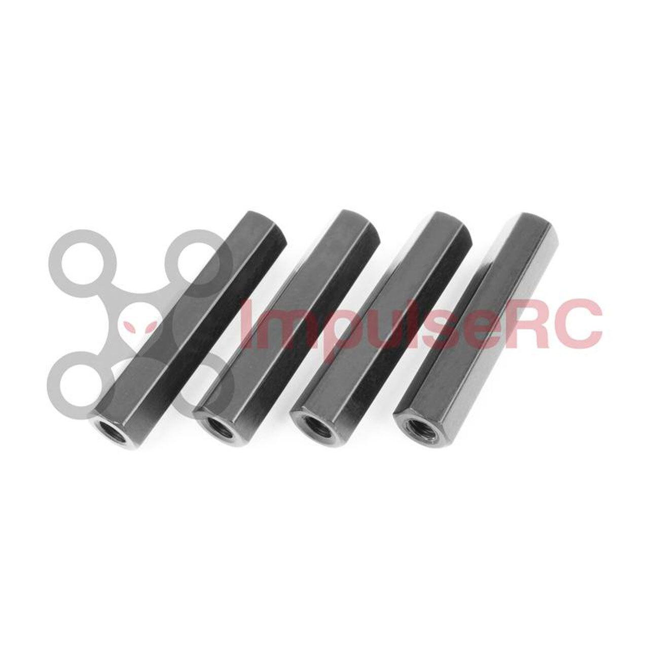 ImpulseRC STANDOFF M3 ALUMINIUM HEX 5x24.5mm 黒/4本セット