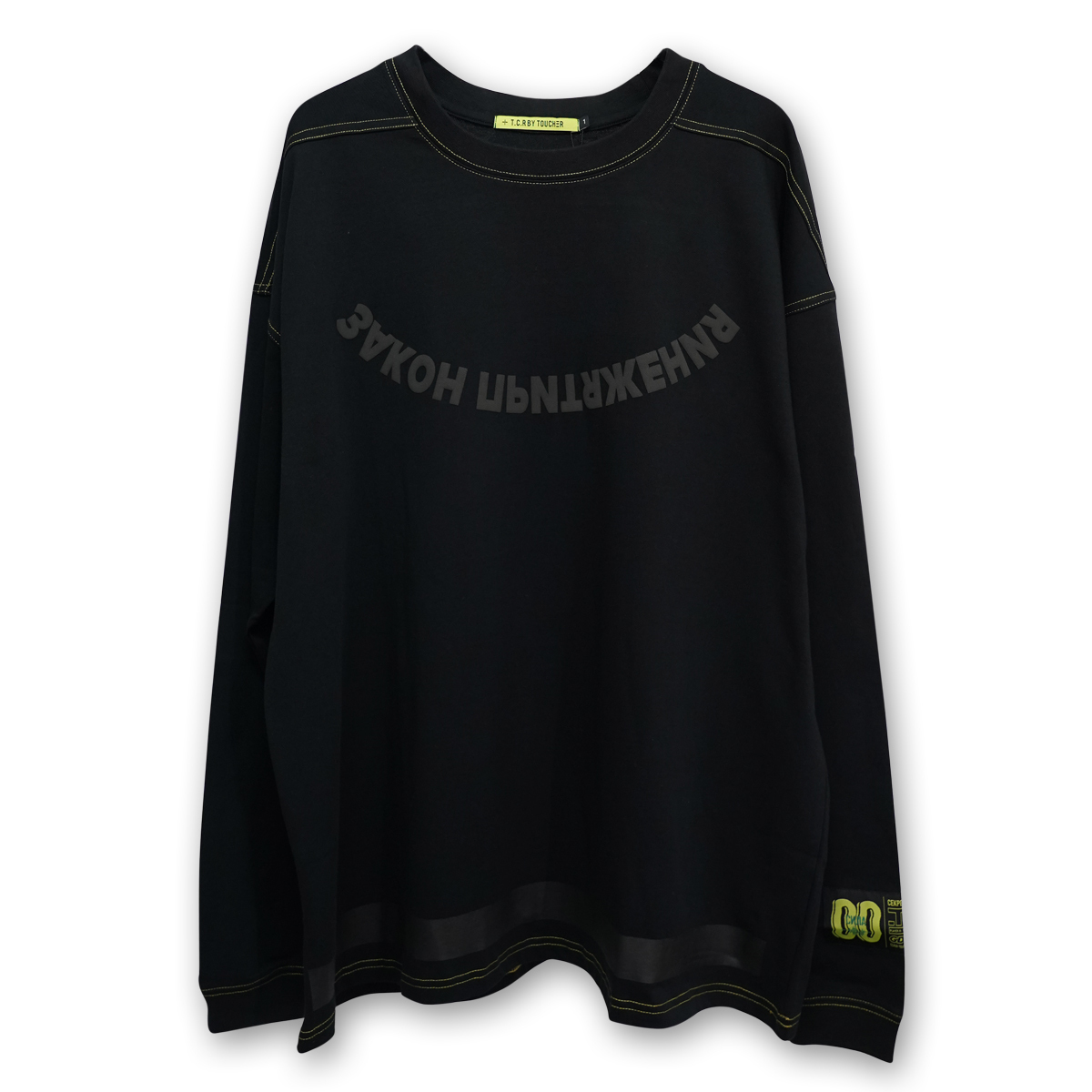 OVERSIZED ATTRACTION L/S TEE - BLACK/YELLOW
