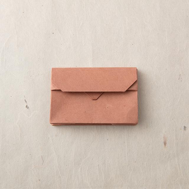 オリンモ シブ(茶)【オリガミ×小国和紙 カードケース】
