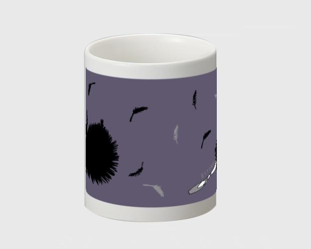 黒鳥 マグカップ - 画像2
