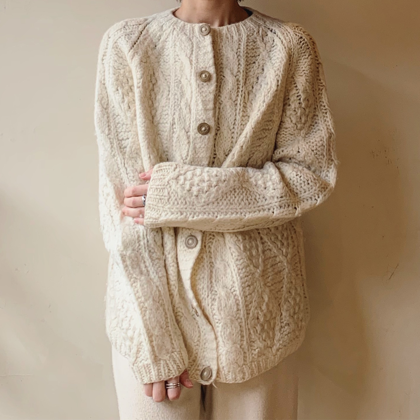 vintage fisherman knit sweater