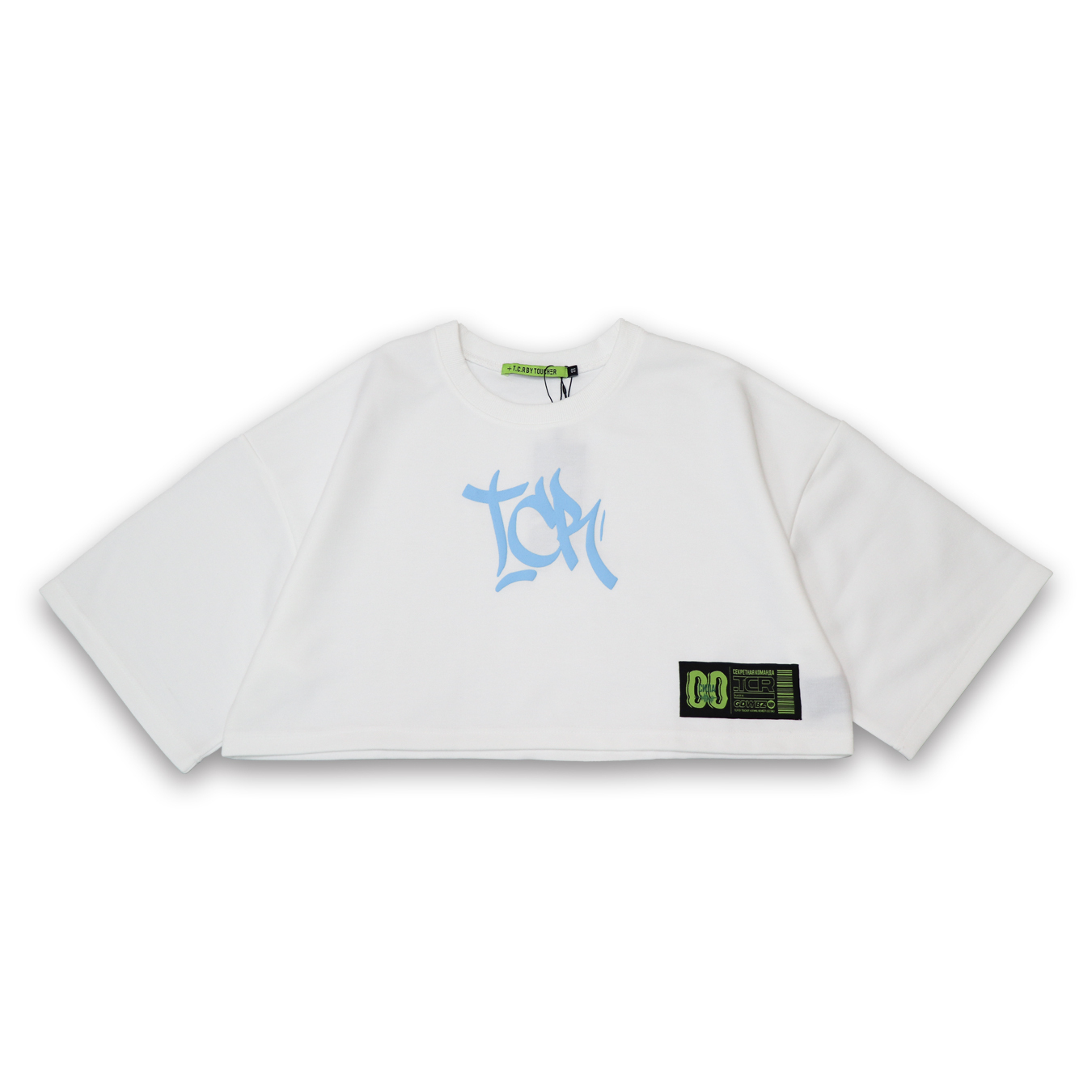 T.C.R FOAM LOGO  SHORT LENGTH TEE - WHITE