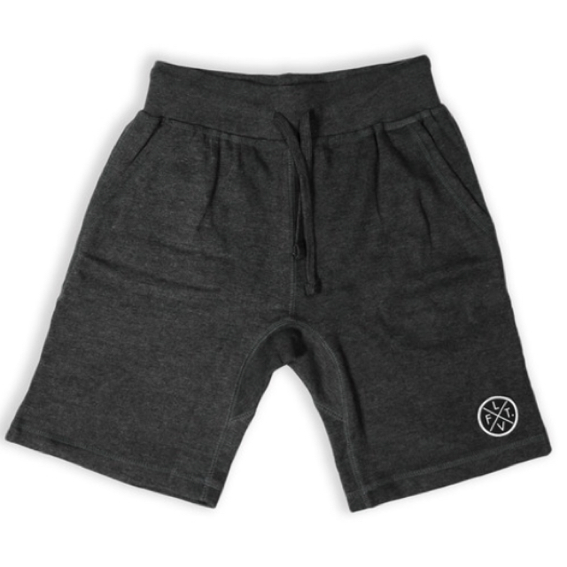 LIVE FIT Prestige Worldwide Sweat Shorts - Charcoal