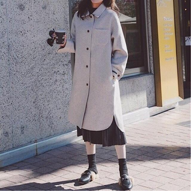 売れ筋 レデイース ロング コート 無地 ウール ストレート カジュアル ゆったり シンプル 通勤 女子会 デート