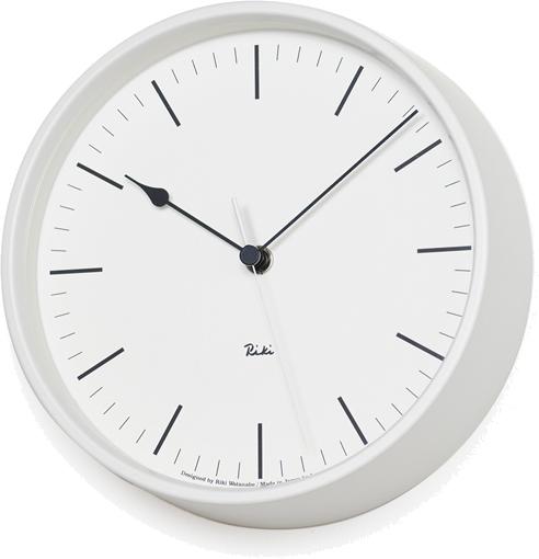 タカタレムノス RIKI STEEL CLOCK 電波時計 ホワイト WR08-24 WH