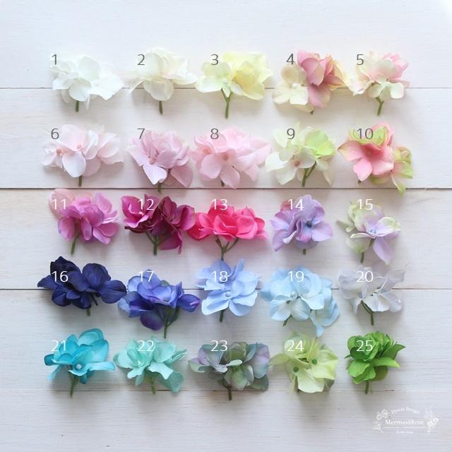全25色!ラプンツェルヘア髪飾り用*お花パーツ2個セットUピン