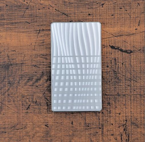 ウェーブボーダー《シルバー》ジュラルミン アルミ 金属 名刺入れ カードケース ギフト