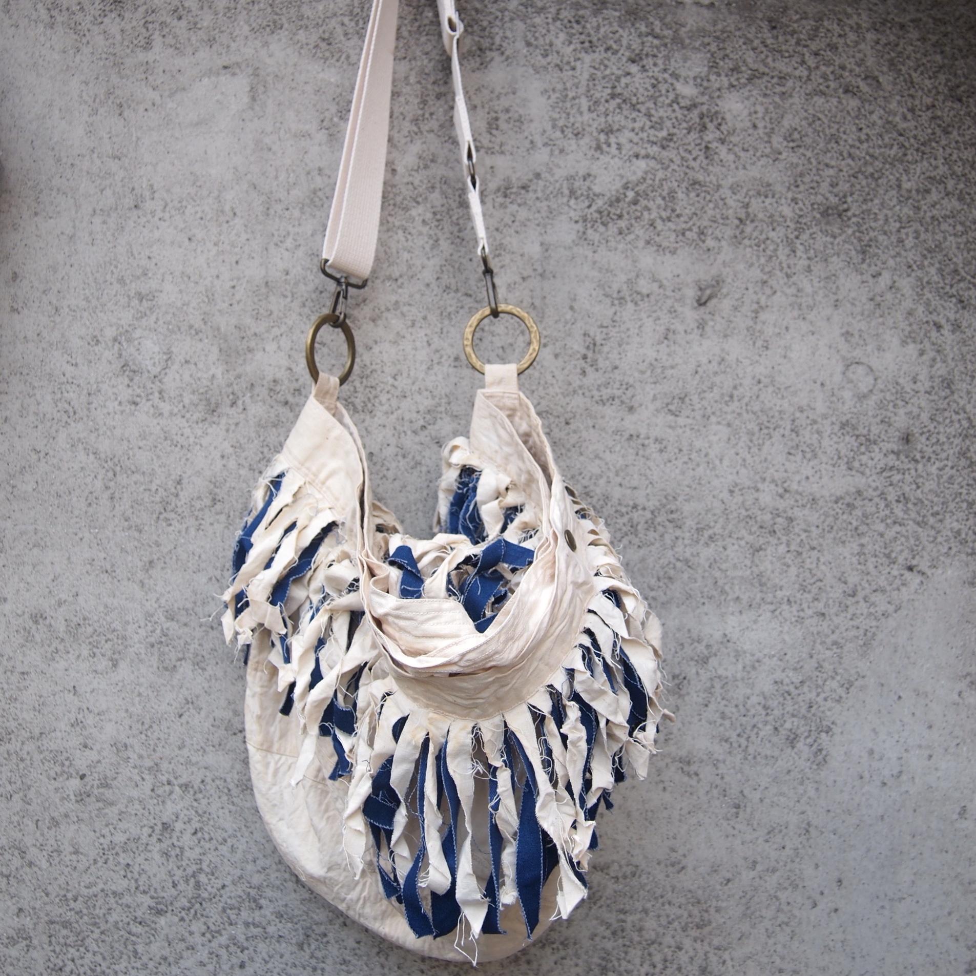 【sandglass】fringe duffle bag/ 【サンドグラス】フリンジ ダッフル バッグ