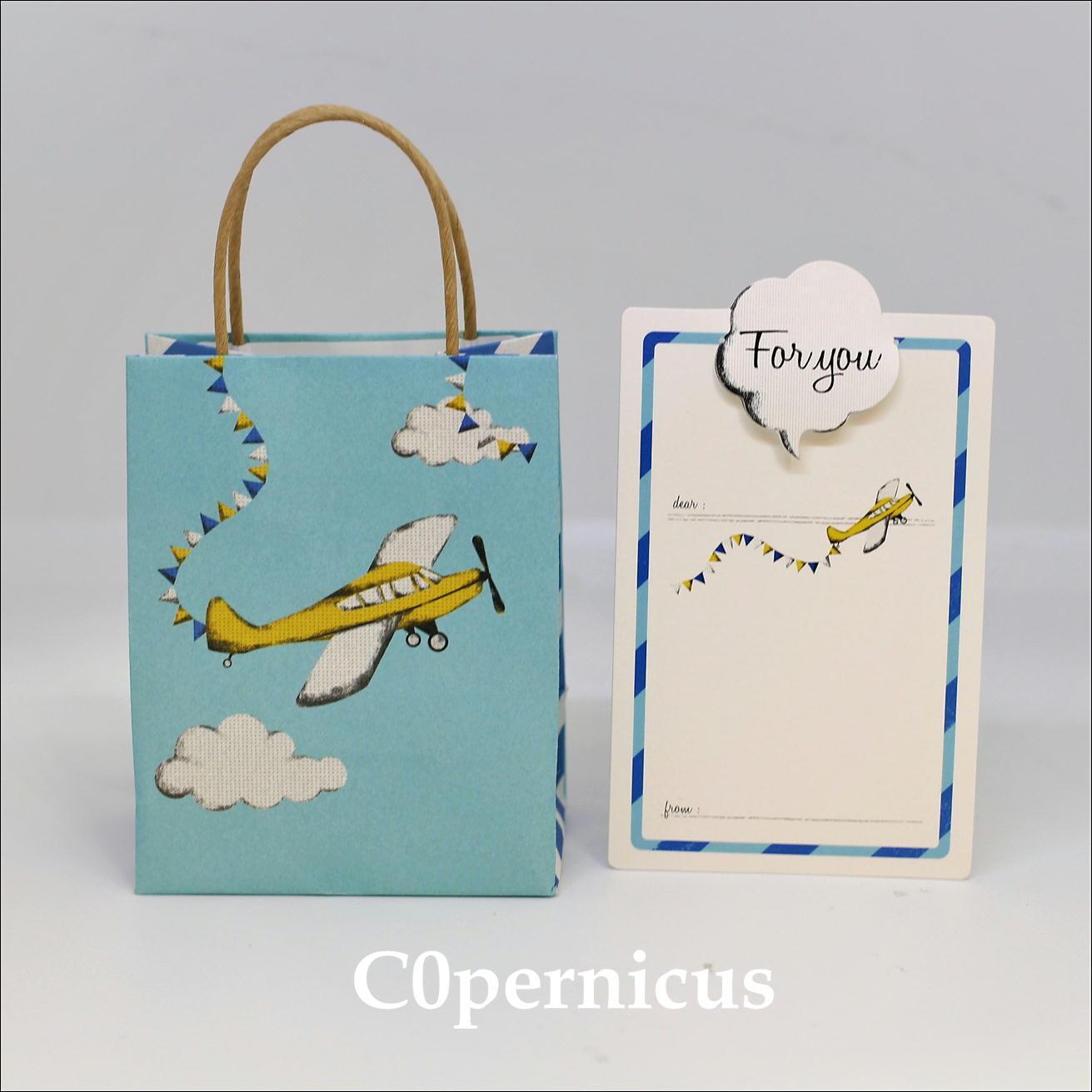 メッセージカード/紙袋/ギフト袋 (飛行機)web限定価格浜松雑貨屋 C0pernicus  便箋・紙袋レターセット