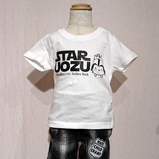 "STAR UOZU & ミラたん コラボ""KIDS""Tシャツ ホワイト"