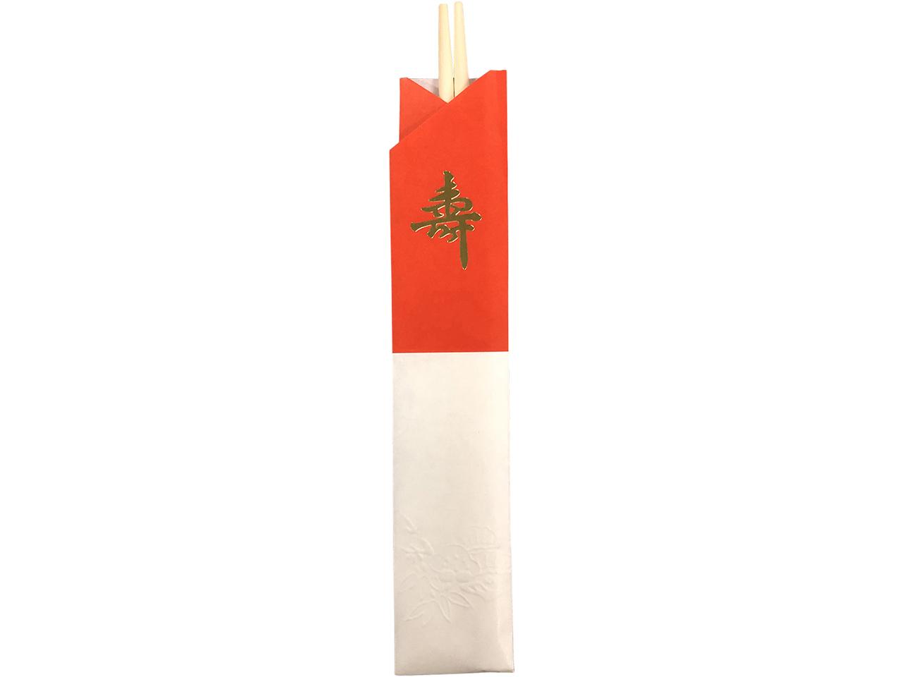 お買い得な輸入の割り箸 「アスペン祝箸 紅白10膳」 ポストIN発送対応商品