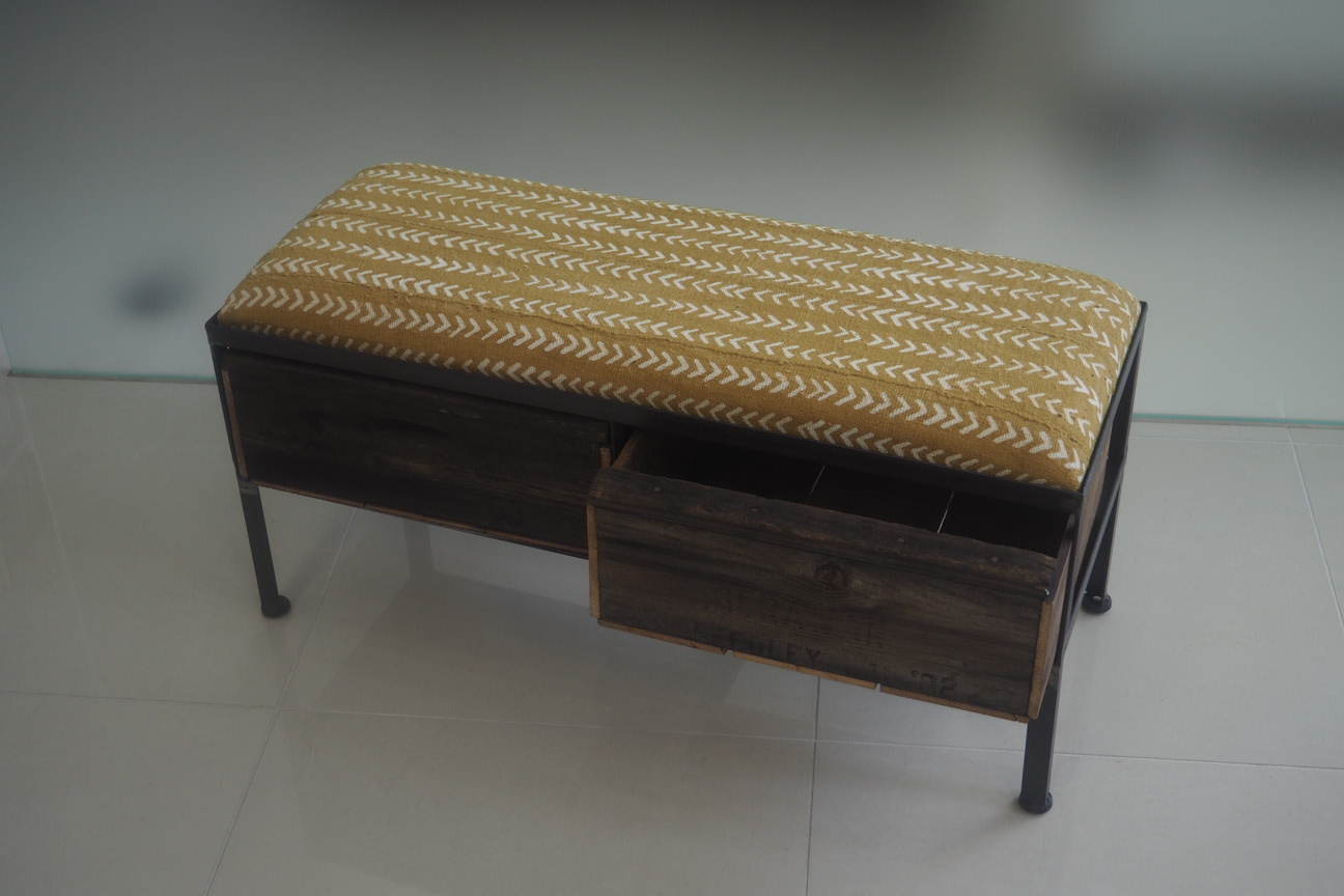 品番UAY2-106  2drawer ottoman[narrow/African yellow]