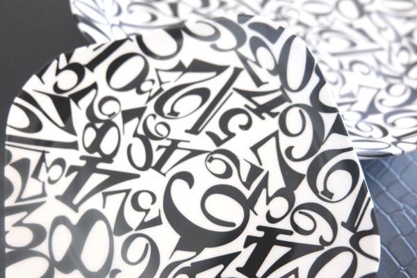 ナンバー転写紙 ブラック A3サイズ  (ポーセリンアート用転写紙)