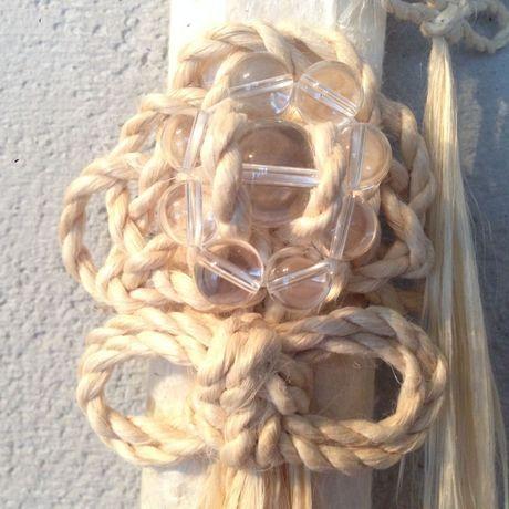 大麻飾り(中)  祈水晶 松・二重叶い結び