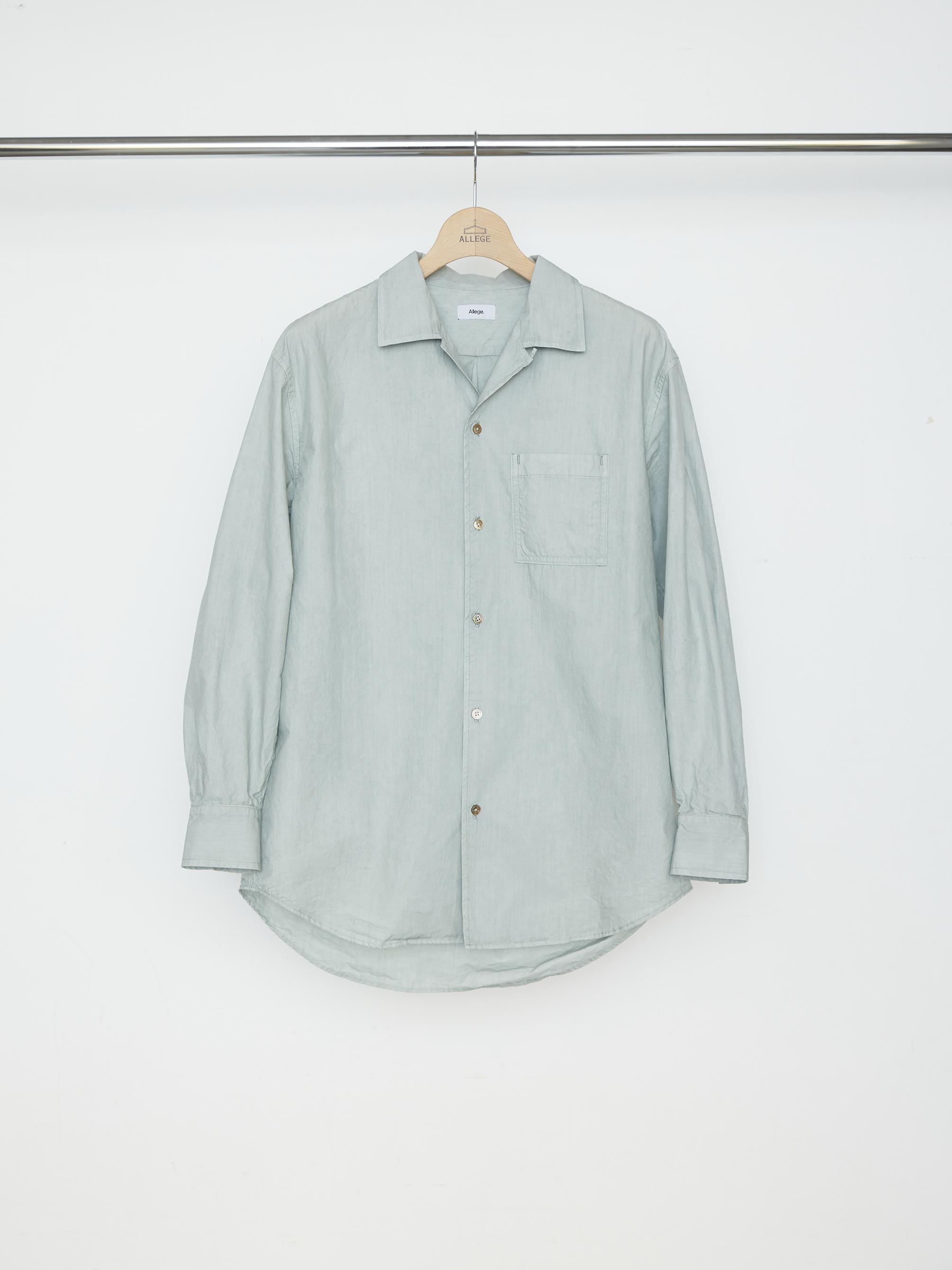 Pigment Dye OP Shirt - MINT